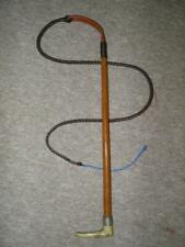 Antique Traditional Gents Griffith London Plaited Wire Hunt Whip & Leather Lash