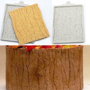 Tree Bark Cake Fondant Mold Decorating Sugarcraft Silicone Border Icing Mould