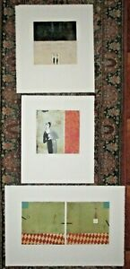 Three Contemporary French Color Aquatint Etchings-Mystery Artist-1999