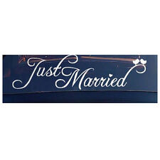 Just Married Sign Wedding Day Car Sticker Decorations Window Banner Decal P X5U2