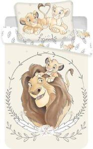 2pcs baby luxury duvet cover bedding set Reversible cotton Disney LION KING