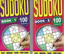 4 SUDOKU BOOKS 96 PUZZLES IN EACH IDEAL FOR TRAVEL THERE IS BOOKS 1-2-3 & 4 NEW