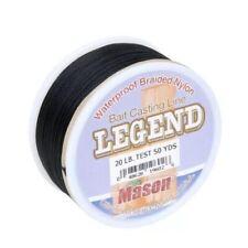 Mason Legend Waterproof Braided Nylon Bait Casting Line 20lb test 50yrd. Tip Up