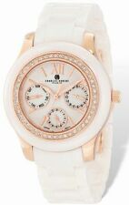 Ladies Charles Hubert White Ceramic Multifunction 40mm Watch