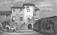 Athens Greece LORD BYRON FRANCISCAN CONVENT HOUSE ~ Old 1833 Art Print Engraving