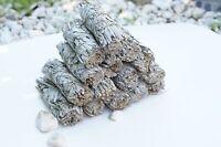 2 Vegan White Sage Smudge Stick 4.5-5 inces Long Herb Eliminates Negative Energy