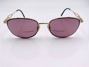 Vintage Marcolin 7206 716 Brown Gold Metal Oval Sunglasses Italy FRAMES ONLY