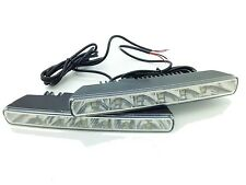 Universal 6 LED 18cm DRL Lights Daytime Running Lamps 12V Xenon White Dacia 201