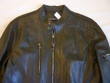 john varvatos Leather Motorcycle Jacket Mens US 40 $1698 New WO Tags
