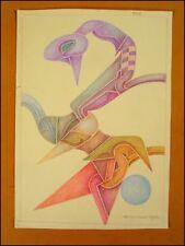 Fritz Klee original Pastell Zeichnung 1952 / 35,5x25cm