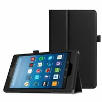 For All-New Amazon Fire HD 8 inch 8th Gen 2018 Tablet Folio Case Stand Cover