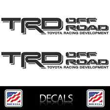 (2) TRD OFF ROAD Decals Stickers Matte Black Vinyl Toyota Tacoma Tundra 4Runner
