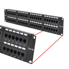 CAT5 CAT5E UTP 48 PORT NETWORK LAN PATCH PANEL 2U 110 WITH CABLE MANAGEMENT
