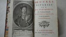 FONTENELLE  Oeuvres diverses de M. de Fontenelle. 1742