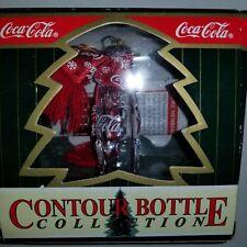 Coca Cola Ornament Christmas 1998 Miniature Glass Coke Bottle           P-2#2dm