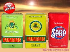 YERBA MATE FROM URUGUAY - Canarias - Serena - Sara - 3 Kilos - FREE Shipping!