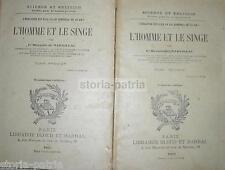 STORIA NATURALE_ZOOLOGIA_ANTROPOLOGIA_UOMO_SCIMMIA_EVOLUZIONE_NADAILLAC_GEOLOGIA