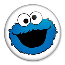 "Cookie Monster 25mm 1"" Pin Badge Button Muppets Sesame Street"