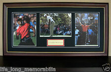 TIGER WOODS GOLF WORLD CHAMPION SIGNED AND FRAMED PHOTOS THE GREATEST