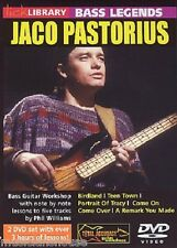 LICK LIBRARY JACO PASTORIUS BASS LEGENDS Learn to Play Slap LESSON Guitar DVD
