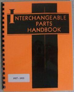 1927 1928 1929 1930 1931 32 33 Interchange Parts Essex
