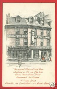 BOSTON MA UNION OYSTER HOUSE 1960  FT BLISS   POSTCARD