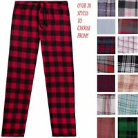 Men's Cotton Flannel Plaid Pajama Sleep Pants Super Soft Lounge Bottoms PJ's