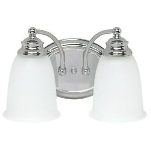 Capital Lighting 2 Light Vanity Fixture, Chrome - 1087CH-132