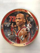 "Michael Jordan Plate ""Record 72 Wins"" Upper Deck Bradford Exchange Limited Edit."