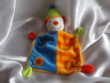 Doudou clown, orange rayé, Baby Club, Blankie/Lovey/Newborn toy