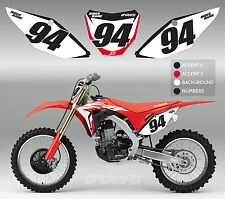 2017 HONDA FACTORY BACKGROUND GRAPHICS KIT CR CRF 85 125 250R 250F 450F
