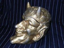 Rare Antique ashtray Devil, VTG Russian Demon Cigarette Urn Satan Halloween old