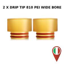 2X DRIP TIP 810 WIDE BORE PEI TERMOISOLANTE SANITARIO RBA RDA RTA RDTA DRIPTIP