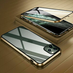 360° Tempered Glass Metal Bumper Magnetic Phone Metal Case Cover For Smart Phone