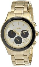 DKNY MEN'S 2 TONES DIAL LUXURY CHRONOGRAPH GOLD WATCH NY8656