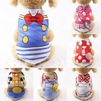 Summer mesh Various Pet Puppy Cartoon Small Dog Cat Pet Clothes Vest Apparel new