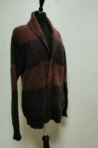 SCOTCH & SODA unisex cardigan size L, wool mohair blend, brown, used in vgc