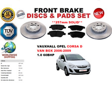 per Vauxhall Opel Corsa D Furgone 1.0 06-08 SET DISCHI FRENI ANTERIORI +