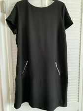 Wallis Womans Summer Black Dress Brand New with Tags Size 18. Knee Length