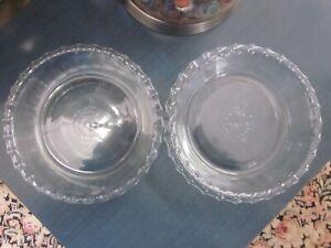 2 Pyrex 6 inch Glass Crimped Edge Mini Pie Tart Plate Baker Dish