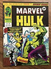 MIGHTY WORLD OF MARVEL # 198 White Pages Beautiful HULK 1ST WOLVERINE