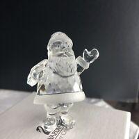 SWAROVSKI Silver Crystal Santa Claus Figurine New Original Box COA 1998 Retired