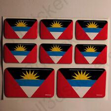 Pegatinas Antigua y Barbuda Pegatina Bandera Vinilo Adhesivo 3D Relieve Resina