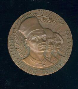 médaille colonies : centenaire des troupes africaines 1857-1957