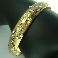 18k Gold Filled bangles Bracelet 60mm Dia. 9mm band width Bangles g114