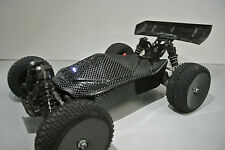 LOSI 1/14 MINI 8IGHT 2XCFL REAL CARBON FIBER STEALTH BODY /LED SET