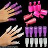 10pcs Plastic Nail Soak Off UV Gel Art Tips Polish Remover Wrap Gelish Clip Cap