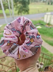 Oversized Pusheen The Cat Scrunchie   Classic Style   15cm wide (Aus Wide)