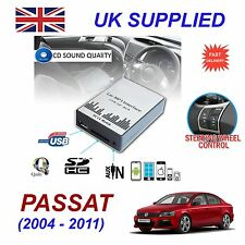 VW PASSAT MP3 SD USB CD AUX Input Audio Adapter Digital CD Changer Module 12 pin