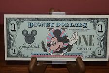 DISNEY DOLLARS~1$ MICKEY~1987-LOW # 7 NOT 8~A1076343~UNCIRCULATED